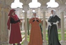 Dresses, 13th century / Male and female clothing were relatively similar, and changed very slowly, if at all. Most clothing, especially outside the wealthier classes, remained little changed from three or four centuries earlier. The century saw great progress in the dyeing and working of wool, which was by far the most important material for outerwear. For the rich, colour was very important. Blue was introduced and became very fashionable, being adopted by the Kings of France as their heraldic colour.