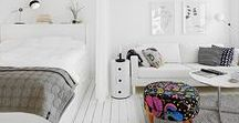 Small studio apartment / Small living ideas. Storage and nooks usage for modern and creative family.