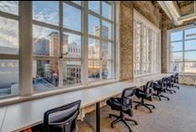 TechSpace San Francisco / TechSpace San Francisco is located in the Union Square district and occupies the 5th and 6th floors of the Grant & Geary Center Building. The modern, cool aesthetic includes exposed brick and concrete and large windows providing exciting city views. This unique 25,000 square foot TechSpace San Francisco facility will feature 29 private office suites totaling 333 workstations in a space with distinctive architecture and progressive design elements.