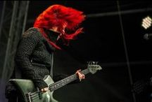 """You Will Know Me By My Trail of Red / A board dedicated to """"Red Inspirations"""" for L7 Reunion Tour 2015 and my colorist Aimee Marquardt Salon."""