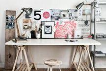 {DECO} bureau/atelier /// craftroom