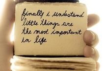 """Little things in life /     """"Enjoy the little things in life... ... for one day you'll look back and realize they were the big things."""" --- Robert Brault"""