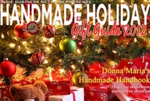2012 Handmade Holiday Gift Guide / Our #HandmadeHoliday Gift Guide features over 30 handmade entrepreneurs! From handmade soaps to skin care, lotions, aromatherapy, jewelry, industry professionals, scrubs, hair care, candles, suppliers and spa products - we've got your holiday shopping list covered. Click on the Handmade Holiday Gift Guide front cover pin to access the entire magazine!