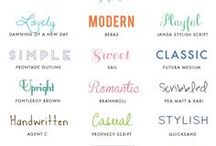 Design | Fonts / Fonts are so fun to look at. Lots of inspiration for designs.