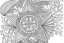 DIY & Crafts | Zentangle / Zentangle tutorials, inspiration, and coloring pages.
