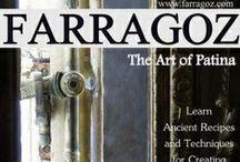 Farragoz / The Art Of Patina, online class... And other patinas to achieve... farragoz.blogspot.com / by Carol Ann Wilke