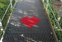 Giant outdoor crossstitch / Ideas of pattern and how to for outdoor crossstitch or embroidery.