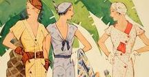 1930s Fashion History / 1930's women's style fashion for inspiration and for sale. Shop dresses, shoes, hats, jewelry, and more. Start online here: http://www.vintagedancer.com/1930s/
