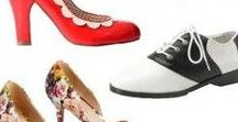 1950s Shoes / Bring back the retro with 1950s style shoes! More than saddle shoes, find new kitten heels, ballet flats, sandals, and loafer all with a retro 50's vibe.