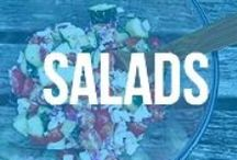Salads & Dressings / Filling and healthy salads! and light dressings, of course!