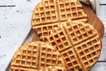 Waffles // / Waffle obsession?  Recipes for sweet and savoury waffles.