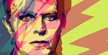 """David Bowie / His life changed my life. David Bowie was my creative northstar, a muse, an inspiration to me from the age of 8. He was a special soul on a mission, and the mission is now complete. I know he is truly home now among the stars.""""  ― Eileen Anglin"""