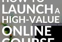 Creating Your Profitable eCourse / how to create an e-course, launch a course, marketing your course, marketing for creatives, email marketing, content creation, passive income, email sales, launch strategy, sales page, sales funnel, email funnels