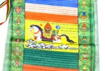 Prayer Flags / Prayer flags from Nepal, Buddhist prayer flags, Tibetan prayer flags