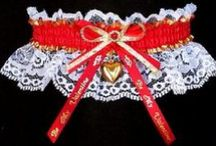 Valentine / Wedding Garter / Be My Valentine Garters ~ Disarming with an unbreakable spell. Give her the Red Velvet Treatment with Valentine Ideas & Trends. A Valentine Garter for her on this special Valentines Day wedding. / by garters.com