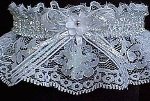 Winter Wedding Garter / Melt the ice and the cold of winter with these Winter Wedding Garters from Custom Accessories Garters LLC