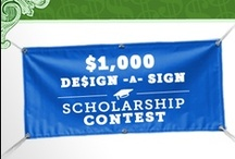 Signazon's De$ign-A-Sign Scholarship Contest / Here's an easy scholarship to apply for! Enter to win up to $1,000 and a 10% off code for your high school! Then,  share your design and have your friends vote for it! To enter, visit www.signazon.com/contest/grad2013/