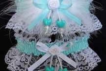 Aqua - Turquoise - Teal Garters for Wedding Bridal Prom Fashion / No time for secrets. There are 16 different shades from Aqua to Teal satin band and trim Garters to choose from on white black or ivory lace. Aqua Wedding Garters - Aqua Bridal Garters - Aqua Prom Garters - Aqua Fashion Garters - Aqua Fancy Bands™ Trademark Garters *** Aqua Wedding Garter - Turquoise Wedding Garter - Tiffany Blue Wedding Garter - Teal Wedding Garter *** Custom Accessories Garters LLC - www.garters.com / by garters.com