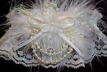 Ivory Garters for Wedding Bridal Prom Fashion / Incurable romantic. There are 5 different shades of Neutral Antique Ivory Cream Buttermilk or Candlelight satin band and trim to choose from on white black or ivory lace. Ivory Wedding Garters - Ivory Bridal Garters - Ivory Prom Garters - Ivory Fashion Garters at Custom Accessories Garters LLC - www.garters.com / by garters.com