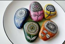 ROCK ART... / ROCK PAINTING , JEWELRY ,MOSIACS AND ART...  / by Debbie Antrim