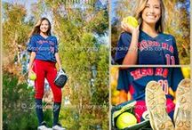 Senior Portraits-Softball / Create a portrait Grand Slam with your Breakaway senior session! Photoshoot softball can include styling ideas with: Softball equipment (bat, ball/s, glove/mitt, helmet, cleats, even home plate or a base), letter jackets/uniforms/school logo clothing. Breakaway can document your passion and love of the game with looks that include: Action, fun poses, fierce, playful, sports equipment mixed with 'girlie' poses or clothes (such as dresses and heels).