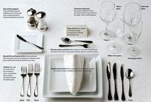 Wine & Dine / Pretty table settings, al fresco dining, holiday tablescape inspiration, must have serving pieces, linens and more!