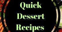 Quick Dessert recipes / Easy, healthy dessert options that are quick!