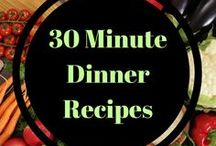 30 Minute Dinner Recipes and Ideas / 30 minute dinner recipes, quick and healthy. Great for weeknights!