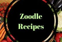Zoodle Recipes / Zoodles and Zoodling ideas. Pretty and healthy!