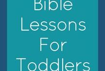 Bible Lessons for Toddlers / Bible study lessons for toddlers and preschoolers, plus ideas for introducing your toddler to God and His word!