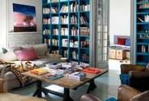 living room and library / by sarah thompson