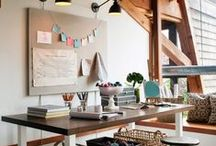 Home: Craft room / I love having my own space to get my crafting on! To be creative, I need a reasonably organized space. Come see my inspiration!