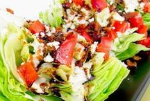 yum...salad bar... / delicious salad and salad dressing recipes / by Debbie Young
