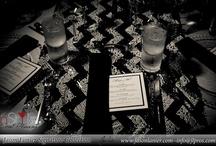 InStyle Tablescape / #tablescape #centerpieces #candles #floating #goblets #chevronrunner #sandiego #delmar #ranchosantafe #ca