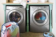 Home: Laundry / Deck out your laundry room for aesthetics and function.