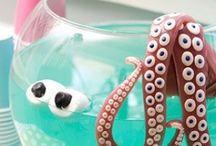 Celebrate: Mermaid Party / Ideas for a pirate and mermaid birthday party.  See pirate board for more ideas.
