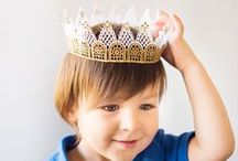 Crafts | Kings & Queens / Craft ideas and inspiration to step into medieval times and explore a world full of glorious princesses, valiant knights and terrifying dragons.
