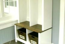 Home: Entryway Ideas / Entryway and storage locker ideas to make it easier for those of us without mud rooms to promote family organization.