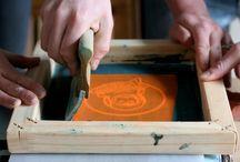 Create: Silkscreening / DIY silkscreening ideas and techniques for screenprinting at home!