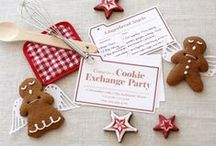 Celebrate: Cookie Swap / Party ideas for a holiday cookie swap or Milk and Cookies party.