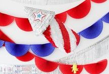 Kids | 4th of July / Blast off with these red, white, and blue crafts, recipes, party ideas, and more that commemorate Independence Day of the United States.
