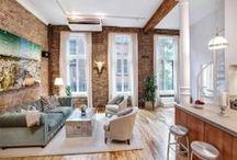 Dream Home: Exposed Brick / Exposed brick instantly adds character and rustic charm to any interior. Especially popular in modern lofts and in historical buildings, but nowadays you can find exposed bricks in other living spaces too. Though the look isn't for everyone, it can make for quite a dramatic interior design element. / by Frank Howard Allen