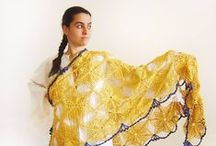 Crochet Shawl / Unique knitted scarves and handmade crochet shawls ♥ www.UniqueKnitsNadamlada.etsy.com ♥ ♥ www.nadamlada.com ♥