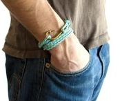 Men's Bracelets of Rope Adjustable Unisex / Men's bracelets, unisex bracelets, adjustable rope bracelets for friendship ♥ www.nadamlada.com ♥
