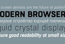 Our Favorite Web Fonts / A small sampling of some of the web fonts we're using in our recent work.