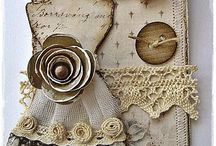 SU Dress Form Cards / Stampin up and Tim holtz dress form dies