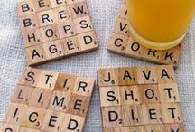Crafts Scrabble tiles / And Old Board Game Ideas