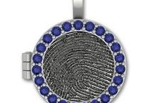 Fingerprint Lockets / Custom Designed Lockets with Fingerprints and Handwriting