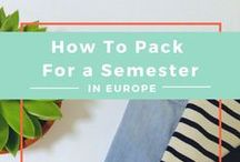 PACKING TIPS / Travel smart, travel light, and travel happy with these great packing tips!