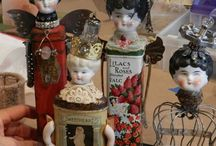 Crafts Old doll art / Doll Heads